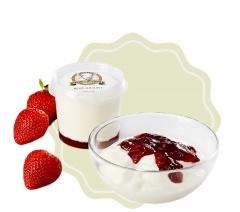 Kozí jogurt ochucený - jahoda